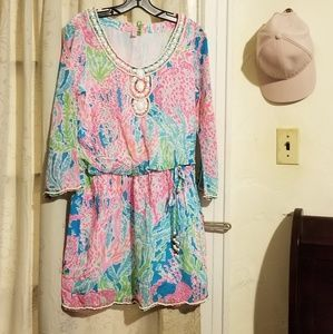 Lilly Pulitzer let's cha cha Desi dress size S